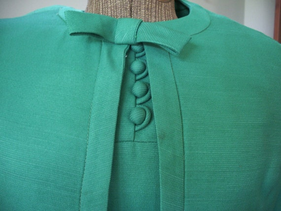 60s Mad Men green mini dress and jacket set