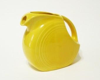 Vintage Fiestaware 6 inch Juice Pitcher Harlequin Yellow