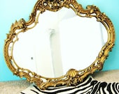 Fabulous HOLLYWOOD REGENCY Gold GIlt FRENCH Style WALL MIRROR