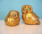 60s Vintage Pair GOLD OWLS