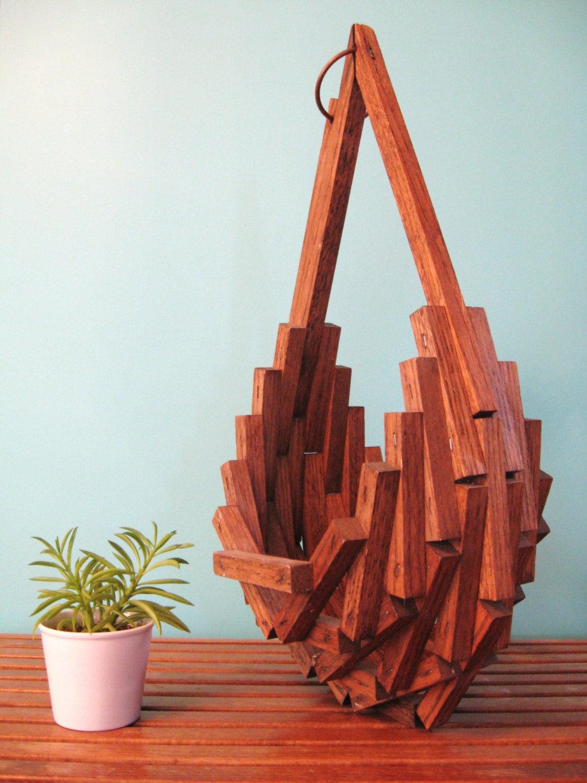 wooden hanging baskets