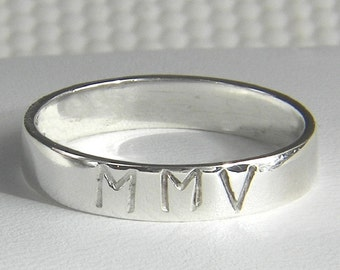 Anniversary Ring Roman Numeral