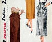 Vintage 50's Sewing Pattern, Slim Skirt Size 32 Waist