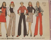 Vintage 70's Sewing Pattern, Misses Top, Skirt and Pants, Size 14 Bust 36