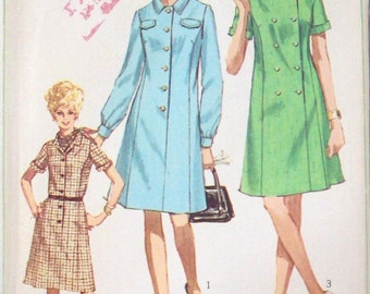 Simplicity 60's Sewing Pattern, Dress, Misses Size 16 1/2