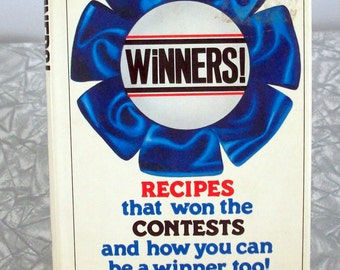 Vintage 80s CookBook, Contest Recipe Winners
