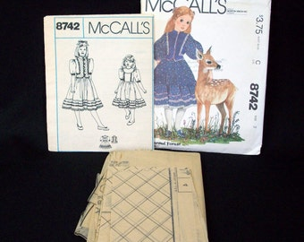 McCall's Sewing Pattern 8742 for Girls' Dress and Vest