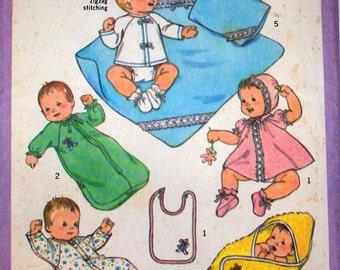 Vintage Sewing Pattern, Babies, 6 months Layette, 1977