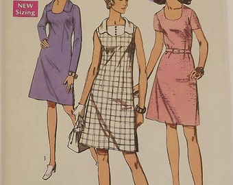 Vintage 70's Sewing Pattern, Misses and Women Dress, Size 40, Bust 44