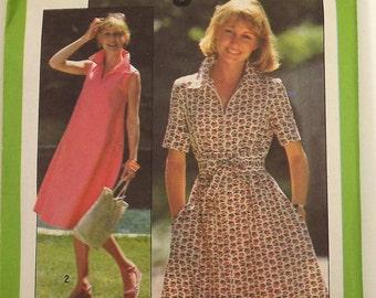 Vintage 70's Sewing Pattern, Dress, Size 6/8 Miss, Jiffy