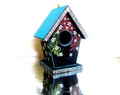 Little Birdhouse: Hand painted Birdhouse Ornament