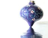 Purple Cute shaped Hand Painted Christmas Ornament
