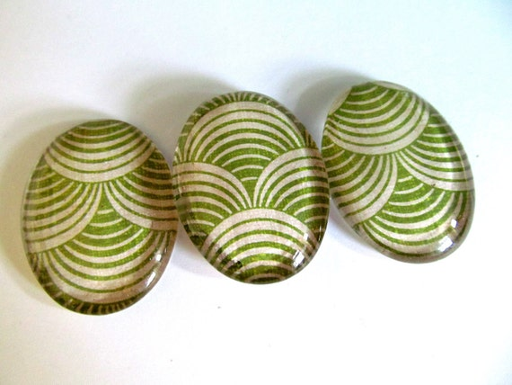 Magnets: Green Magnets set of 3