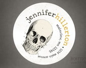 Personalized Return Address Label Sticker - Skull Address Labels, Bag Stickers, Promotional Tags