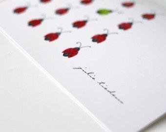 Ladybug Personalized Notecard Set