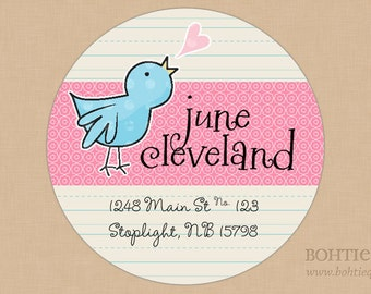 Favor sticker, return address labels, gift for her, envelope label, gift tag