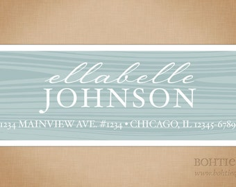 Return address labels for family, personalized address envelope label, custom label gift for her, engagement and couple label