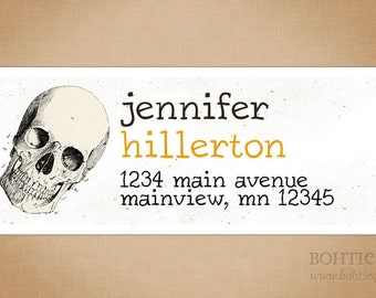 Custom Return Address Labels: Halloween Skull