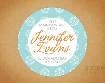 Custom Return Address Labels - Pool and Orange