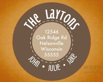 Custom Address Labels - Dots and Dashes