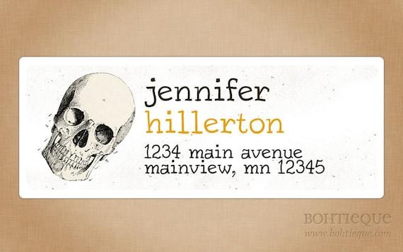 Custom Return Address Labels: Halloween Skull