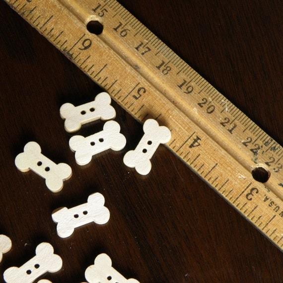 Mini Wooden bones - 2 dozen (24)
