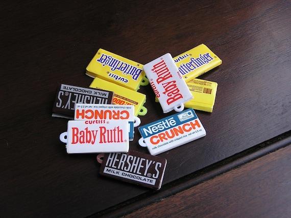 Candy bar charms (10) - miniature plastic chocolate bars - zero calories