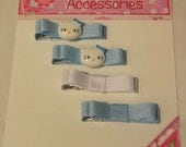 4 Pack Clippie Set-Blue and White with Kitty