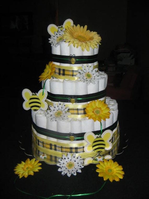 Reserved For Breanne Bumble Bee Diaper Cake