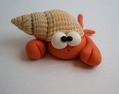 Hermit Crab - Paguro Bernardo (No75) - A Little Polymer Clay Creation