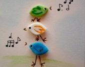 A Sweet Little Bird  ACEO Card (No 114) - Original Miniature Mixed Media Aceo Card by bdbworld on Etsy - ACEO