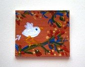 A Sweet Little Bird  ACEO Card (No 111) - Original Miniature Mixed Media Aceo Card by bdbworld on Etsy - ACEO