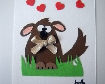 Sweet little Dog (No 55) - Original Miniature Painting by bdbworld on Etsy - ACEO