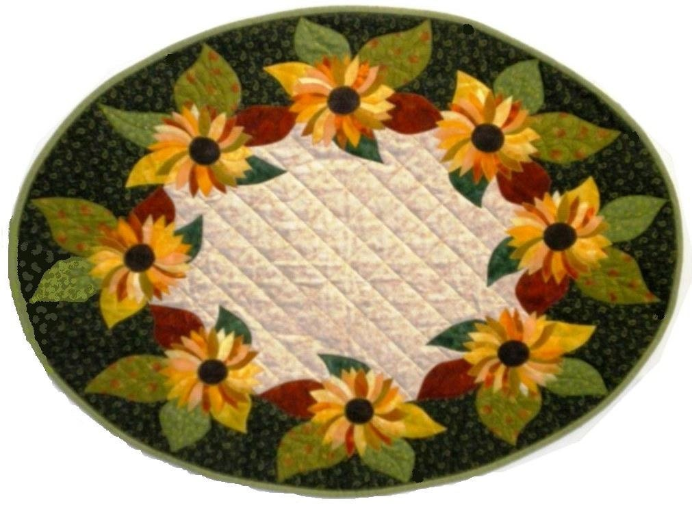 Sunflower Oval Table Runner Quilt besides Owl 2 Applique Machine Embroidery Design together with 325455510547772155 in addition Post applique Tie And Overall Pattern 722790 further 94716398391379949. on quilt pattern template