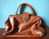 Capezio 80s Caramel Pleather Handbag