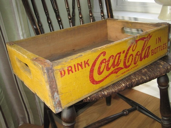 Soda Coca Cola Crate Shelf Or Display Case Coke Vintage Wood