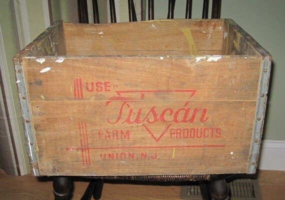 Antique Tuscan Farm Dairy Farm Crate Union NJ