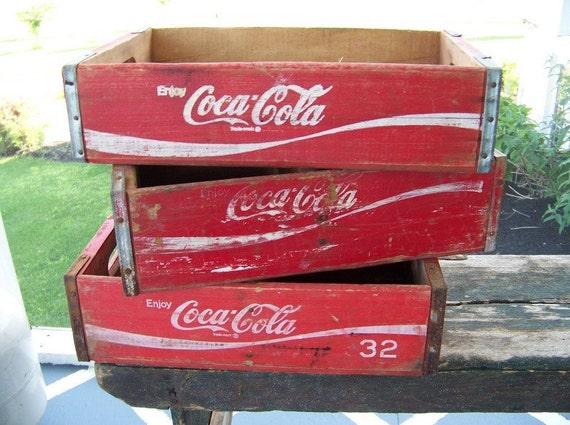 Wood Coke Cola Soda Crate Shelf or Display Case