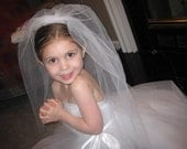 15% off White Double layer dress up comb veil perfect for First communion