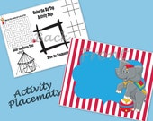 Set of 12 Circus Carnival Party Activity Placemats