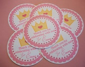 Set of 12 Princess Birthday Party Favor Tags