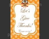 Welcome Door Sign Banner Thanksgiving