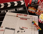 Set of 12 Movie Night Party Activity Placemats