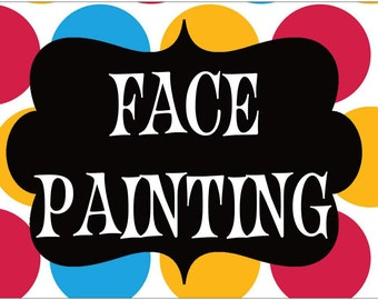 Gallery For gt Face Painting Signage