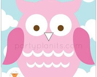 Owl Birthday Party Game Pin the Beak on the Owl