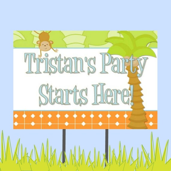 "18""x12"" Safari Party Lawn Sign"