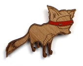 Bandit Fox Brooch