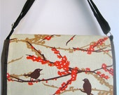 Birds Perched Heather Brown MeSSENGER Book Laptop Diaper BAG