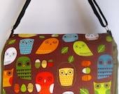 OLIVE Wise Owl MESSENGER Book Laptop Diaper BAG