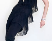Vintage Toga one shoulder Flapper Fringe Dance Cocktail Club Dress